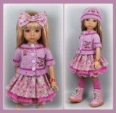 OOAK Lilac Pink Magenta Outfit from maggie_kate_create ends 8/30/14. SOLD for $125.00