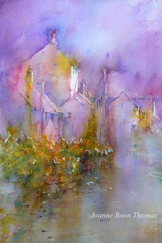Wet day in Hartington.  Brusho Joanne Boon Thomas