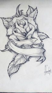 Old drawings art is part of Rose drawing tattoo - Old Old See it Pencil Drawings Of Flowers, Pencil Art Drawings, Art Drawings Sketches, Cool Drawings, Rose Drawing Tattoo, Tattoo Design Drawings, Tattoo Sketches, Rose Tattoos, Body Art Tattoos
