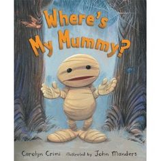 "Wonderful book for Halloween-- little Mummy plays hide n seek with his Mummy and meets some ""friends"" along the way. I love reading it aloud and pretending to be scared of the friends and not wanting to show them. The best part is the ending. -K.L."