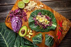 Mo's Healthy Collard Green Quinoa Wraps!