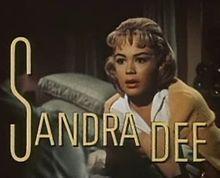 Sandra Dee BornAlexandra Zuck  April 23, 1942  Bayonne, New Jersey, U.S.  DiedFebruary 20, 2005 (aged62)  Thousand Oaks, California, U.S. from complications from kidney disease.