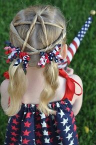 Ok, so I might not do this with my hair, but I love this and it would be so easy to do if only there was a little girl around to do this to.