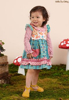 Once upon a time...Fall 2016: True Love Dress with Diaper Cover and Good Natured Tee