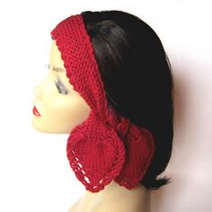 Just a couple of ounces of yarn and an evening or so of enjoyable knitting result in this Sweet Heart Headband or Scarf.