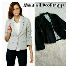 ❗Final 💲Drop❗Armani Exchange black jacket Great quality Armani blazer jacket! One button closure with 2 front pockets! Sturdy black material lined with cotton inner shell. PERFECT CONDITION! Armani Exchange Jackets & Coats