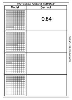 Fractions/Decimals Math Worksheets