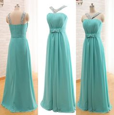 Elegant Halter Chiffon Prom Dresses,A-line Prom Dresses,Backless Prom Dresses,Long Prom Dresses,Prom Gowns