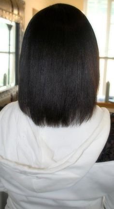 growing healthy relaxed hair