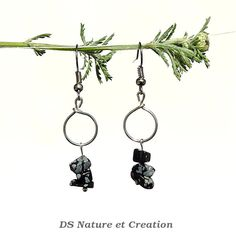 Bohemian jewelry obsidian earrings snowflake by DSNatureetCreation www.etsy.com/listing/235524041/bohemian-jewelry-obsidian-earrings