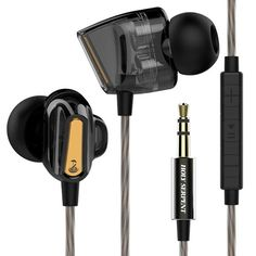 Holy Serpent D1 3.5mm In-ear Dual Dynamic Driver Wired Control Earphone With Mic for Samsung iPhone