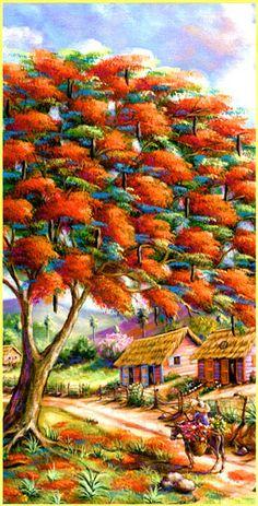 Archivo de álbumes Beautiful Scenery Pictures, Hubble Pictures, Haitian Art, Oil Pastel Art, Caribbean Art, Make Up Art, Easter Art, Garden Painting, Tropical Art