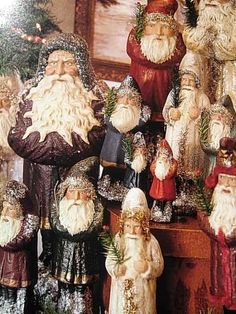 What a collection of santas