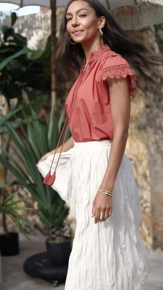 Shop resort and new arrivals now! Casual Work Outfits, Stylish Outfits, Summer Outfits, Diy Fashion, Womens Fashion, Mom Shirts, Lace Skirt, Bridesmaid Dresses, Style Inspiration