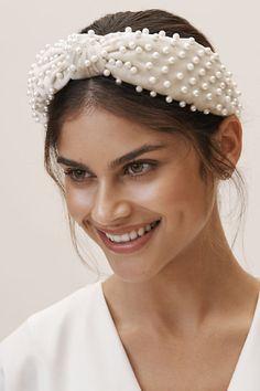 PEARL Twist Hair Head Band Party Bridemaid Flower Hijab HeadPiece Alice Headband
