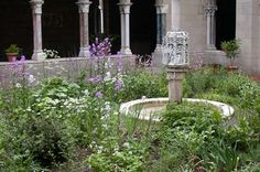 The Trie Cloister Garden at The Cloisters Museum, meant to evoke the feel of the millefleurs/unicorn tapestries.