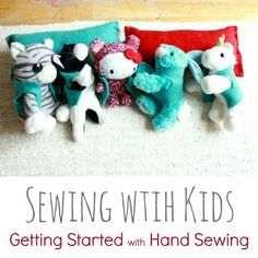 Working with kids : hand sewing