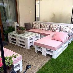 Imagine esse conjunto em sua casa  #moveissustentaveis #moveisdepaletes #paletes #sofádepaletes #decoraçao #desingdeinteriores