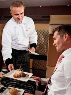 The Best gourmet dining while inflight.
