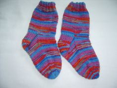 Hand Knit Children's Socks Size 8 Colorful by SpruceCottageKnits, $15.00