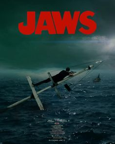 Jaws Movie, Shark Art, Cinemagraph, Horror Films, Movies Showing, Thriller, Fantasy Art, Concept Art, Movie Posters