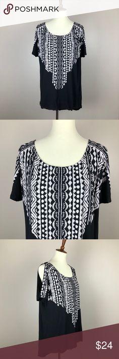 ASOS Curve / New Look Inspire Cold Shoulder Top Brand is New Look Inspire, purchased from ASOS Curve online. Size 18 UK / 16 US ASOS Curve Tops Tees - Short Sleeve