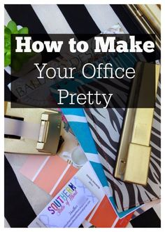 How to Make Your Office Pretty: Gussied Up Dollar Store Scissors