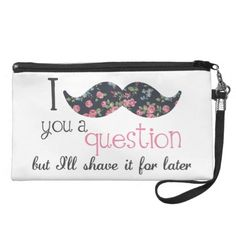 =>>Save on          Floral Vintage I Mustache You a Question Wristlet           Floral Vintage I Mustache You a Question Wristlet today price drop and special promotion. Get The best buyShopping          Floral Vintage I Mustache You a Question Wristlet Review on the This website by click t...Cleck Hot Deals >>> http://www.zazzle.com/floral_vintage_i_mustache_you_a_question_wristlet-223984211612697205?rf=238627982471231924&zbar=1&tc=terrest