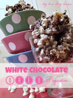 Oreo Popcorn, Oreo Treat, Oreo Dessert, White Chocolate, Marshmallow Oreo