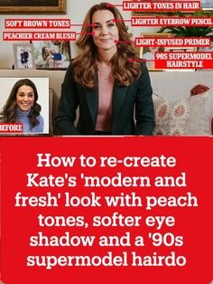 Does Kate have a new beauty guru? Duchess of Cambridge swaps 'matte and rosy' make-up for a 'modern and fresh' look with peach tones, softer eye shadow and a '90s supermodel hairdo
