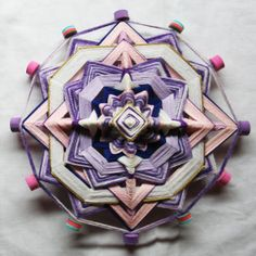Purple Mandala God's Eye by PsyMagic on Etsy, €35.00