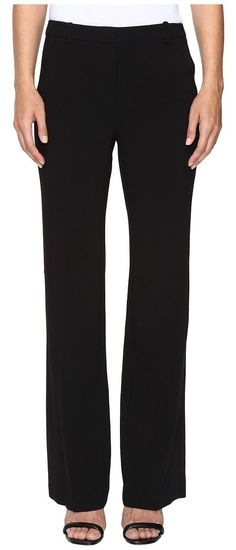 Ellen Tracy Signature Trousers (Black) Women's Casual Pants - Ellen Tracy, Signature Trousers, ETMF67004-001, Apparel Bottom Casual Pants, Casual Pants, Bottom, Apparel, Clothes Clothing, Gift, - Street Fashion And Style Ideas