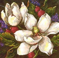 Magnolias (Вышивание крестом, схема)