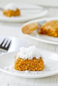 Cassava Cake with Grated Coconut