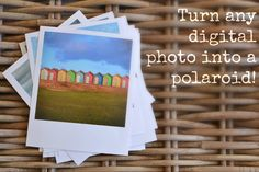 Print any photo as a polaroid: free template!