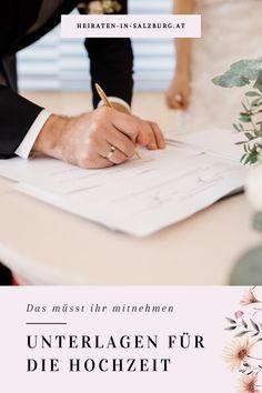 Für die standesamtliche Hochzeit braucht ihr bestimmte Unterlagen, damit eure Eheschließung rechtliche Gültigkeit hat. Wir haben sie hier für euch aufgelistet. Civil Wedding, Getting Married, Marriage