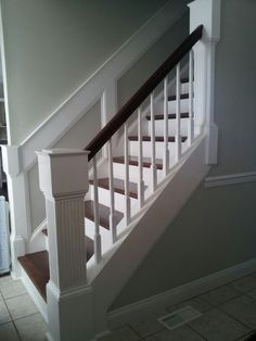Custom newel post by Adam Williamson