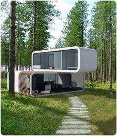 micro maison pr fabriqu e modulaire contemporaine cologique 32 coodo architecture. Black Bedroom Furniture Sets. Home Design Ideas