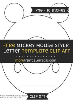 Free Mickey Mouse Style Letter K Template - Clipart | Mickey Mouse ...