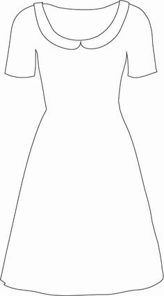 This basic shape, with a tulle overskirt and a glittery belt. To about knee length in grey silk or satin. Silk faille (like the Dior) Barbie Sewing Patterns, Doll Dress Patterns, Beach Coloring Pages, Coloring For Kids, Paper Flower Patterns, Dress Design Sketches, Dress Card, Stencil Patterns, Disney Dresses