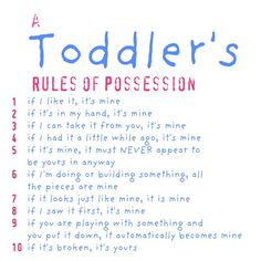 so true in the toddler and preschool classrooms :p and just in general~~~