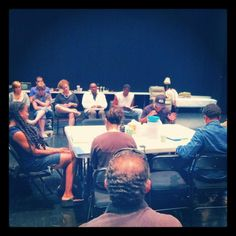 The first table-read rehearsal!