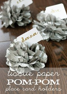 Tissue Paper Pom-Pom Place Card Holders | POPSUGAR Smart Living