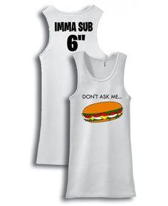 Imma Sub Roller Derby Tank $24.99 via Totally Rad Skatewear.