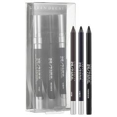 Urban Decay Triple Threat Travel Pencil Set Smoky Matte Edition (0.03 oz x 3 24/7 Glide-On Eye Pencils in Smoke, Sabbath, Perversion) - $10 US / C$13 Online Only #BlackFriday #Sephora