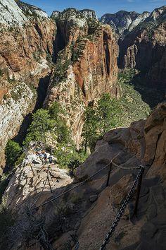 Descending Angels Landing, Zion National Park, Utah | Konstantin Nikolaev via Flickr