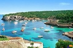 FORMENTERA: a short ferry ride from Ibiza, Spain. The clearest, bluest water you'll see in the Mediterranean Yacht Vacations, Sailing Cruises, Sailing Boat, Sailing Holidays, Cruise Holidays, Boat Hire, Boat Rental, Cool Places To Visit, Places To Travel