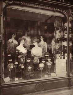 Shop for Paris, 1912 - Hairdresser'S Shop Window, Boulevard De Strasbourg by Eugene Atget Architecture Art Print. Get free delivery On EVERYTHING* Overstock - Your Online Art Gallery Store! Vintage Paris, Old Paris, Vintage Store, Retro Vintage, Eugene Atget, Vintage Photographs, Vintage Images, Contemporary Photographs, Old Pictures