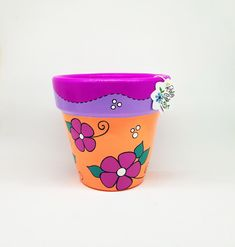 Painted Plant Pots, Painted Flower Pots, Clay Flower Pots, Clay Pots, Quick Crafts, Cute Crafts, Decorated Flower Pots, Flower Pot Design, Cactus Pot