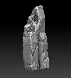 Rocks - Sculpting and texturing practice (images heavy) - Polycount Forum Zbrush, Isometric Map, Stone Pillars, Digital Sculpting, Rock Decor, Rock Design, 3d Artwork, Environmental Art, Texture Painting